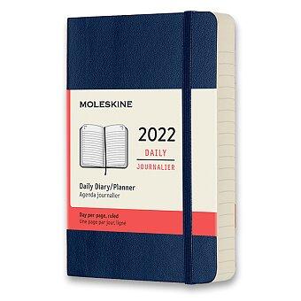 Obrázek produktu Diář Moleskine 2022 - měkké desky - S, denní, modrý