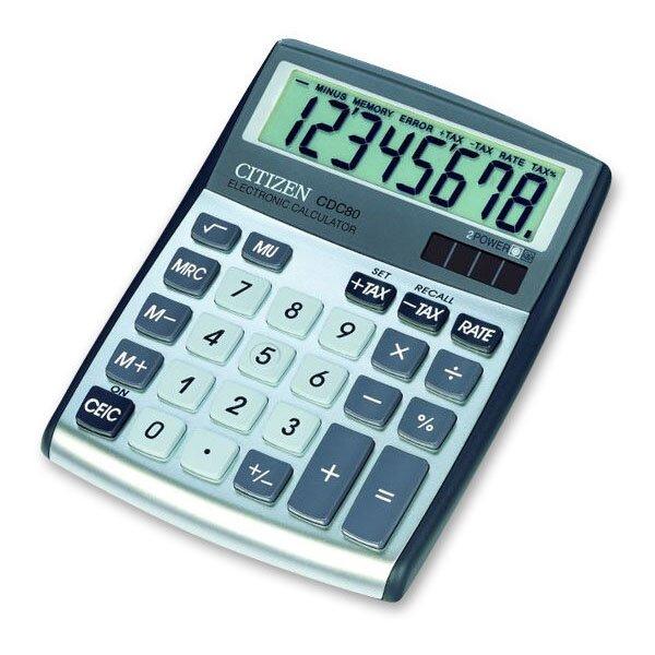 Stolní kalkulátor Citizen CDC-80 stříbrný