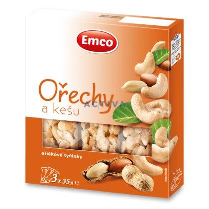 Obrázek produktu Emco - ořechové tyčinky - Ořechy a kešu, 3 ks
