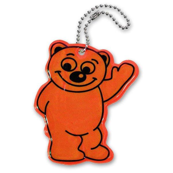 Reflexní přívěšek Compass Medvěd oranžový