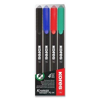 Obrázek produktu Permanentní popisovač Kores K-Marker - sada 4 barev, tenký hrot M