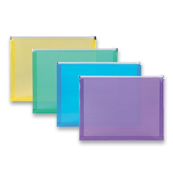 Plastová ZIP obálka A4, mix barev