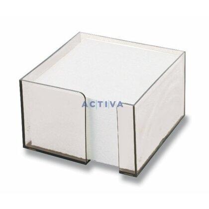 Obrázok produktu Office - zásobník s papierom - transparentný, 10 x 10 x 6 cm