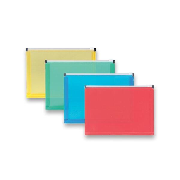 Plastová ZIP obálka A5, mix barev