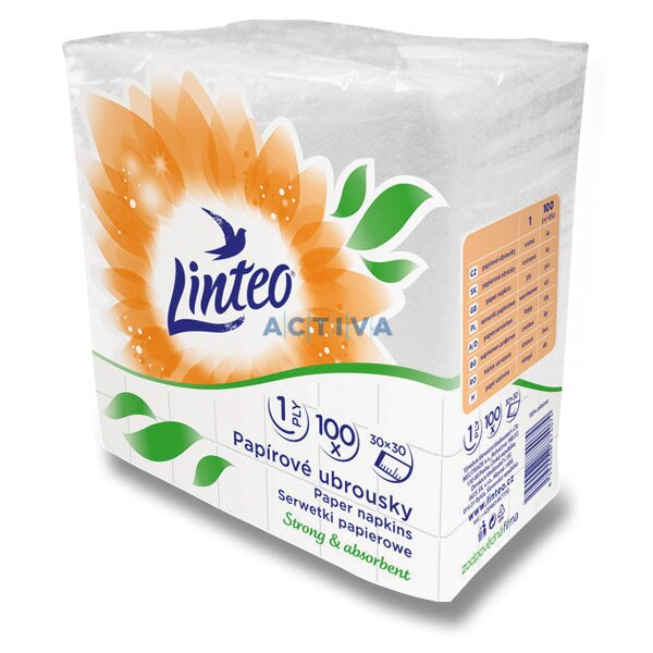 32cee6f54 Linteo Satin - 1- vrstvové papierové utierky - 30 × 30 cm, 100 ks, biele