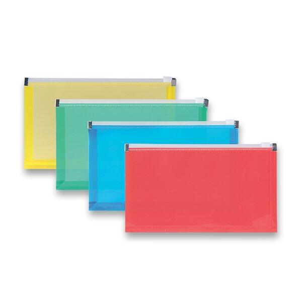 Plastová ZIP obálka DL, mix barev