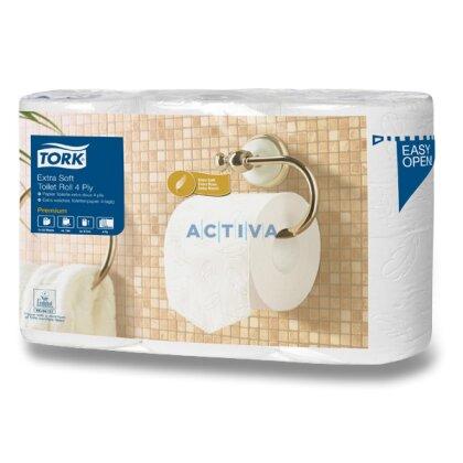 Obrázek produktu Tork Premium - toaletní papír - 4-vrstvý,  153 útržků, 6 ks