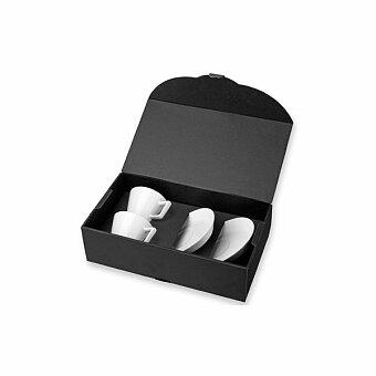 Obrázek produktu HORACIO - sada 2 keramických šálků s podšálky v dárkové krabici, 150 ml