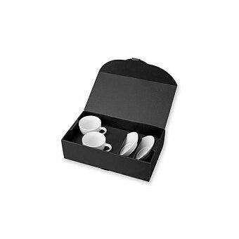 Obrázek produktu IMRE - sada 2 keramických šálků s podšálky v dárkové krabici, 150 ml
