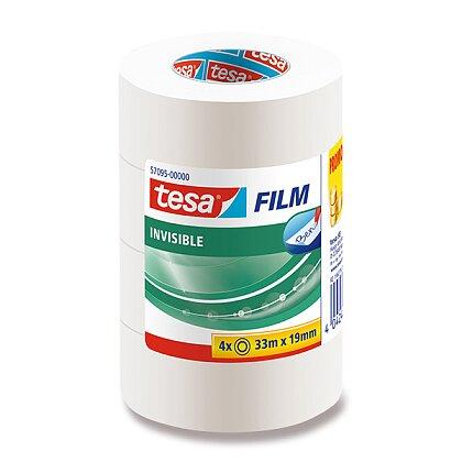 Obrázek produktu Tesa Film Invisible - popisovatelná samolepicí páska - 19 mm × 33 m, 3+1 zdarma
