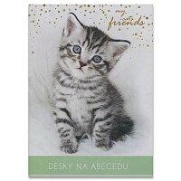 Desky na abecedu kočička
