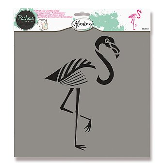 Obrázek produktu Plastová šablona AladinE - Plameňák - 28 x 28 cm