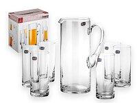 LEMONADE SET - 7dílná skleněná sada na limonádu - džbán 1500 ml, sklenice 6 × 300 ml