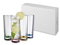 YOUR DRINK - 4dílná sada sklenic s podbarveným dnem, 4 × 270 ml