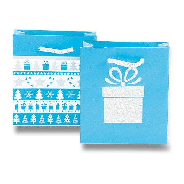 Dárková taška Christmas Frosty 140 x 75 x 150 mm