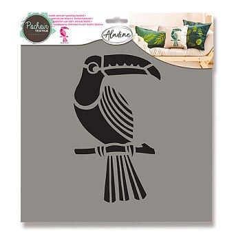 Obrázek produktu Plastová šablona AladinE - Tukan - 28 x 28 cm