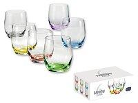RAINBOW SHOTS - 6dílná sada sklenic na alkohol s barevnou dekorací 60 ml