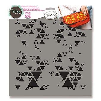 Obrázek produktu Plastová šablona AladinE - Trojúhelníčky - 28 x 28 cm