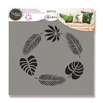 Obrázek produktu Plastová šablona AladinE - Tropické listy - 28 x 28 cm