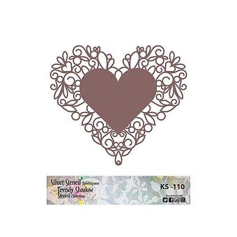 Obrázek produktu Plastová šablona Cadence - Srdce