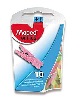 Obrázek produktu Mini kolíčky Maped - mix barev, 33 mm, 10 ks