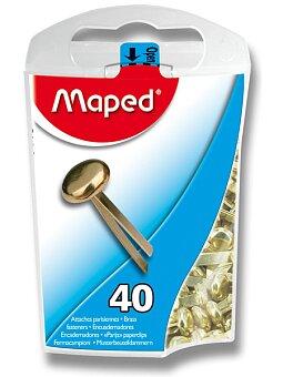 Obrázek produktu Mosazné sponky s hlavičkou Maped - 17 mm, 40 ks