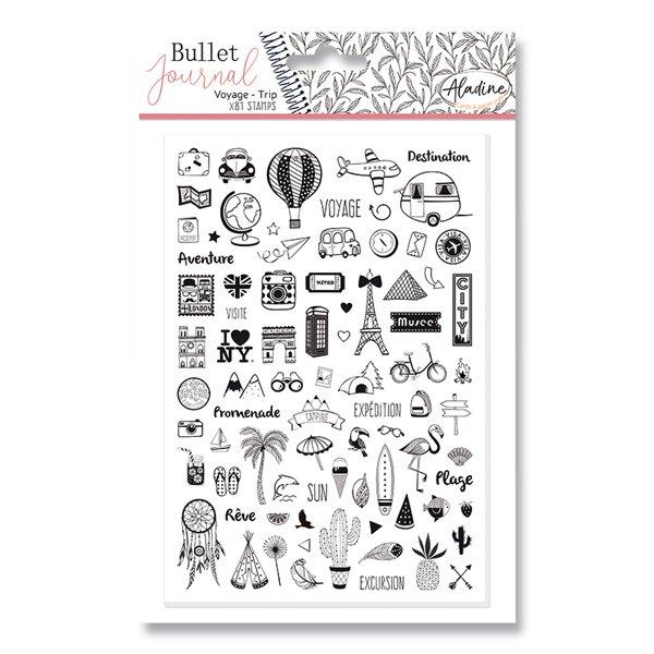 Razítka Stampo Bullet Aladine Cestování, 81 ks
