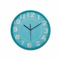 DESHI - plastové nástěnné hodiny, modrá