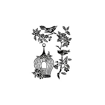Obrázek produktu Plastová šablona Cadence - Ptáčci s klecí