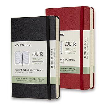 Obrázek produktu 18měsíční diář Moleskine 2017-18 - tvrdé desky - S, týdenní, výběr barev