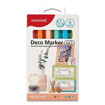 Obrázek produktu Popisovače Monami Deco Marker 463 - Pastel set