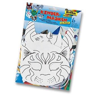 Obrázek produktu Masky zvířat Folia - kůň, pes,kočka,slon,zajíc,drak