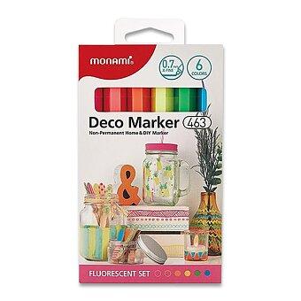 Obrázek produktu Popisovače Monami Deco Marker 463 - Fluo set