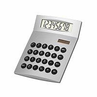 JETHRO - duální kalkulačka s 8místným displejem, stříbrná