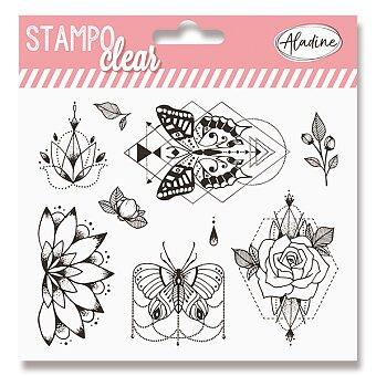 Obrázek produktu Razítka gelová Stampo Clear - Pivoňka, 9 ks