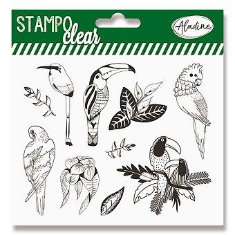 Obrázek produktu Razítka gelová Stampo Clear - Tropičtí ptáci, 10 ks