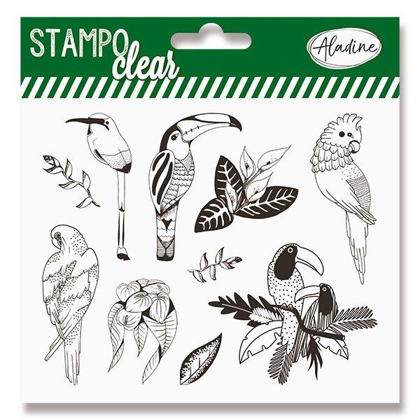 Razítka gelová Stampo Clear Tropičtí ptáci, 10 ks