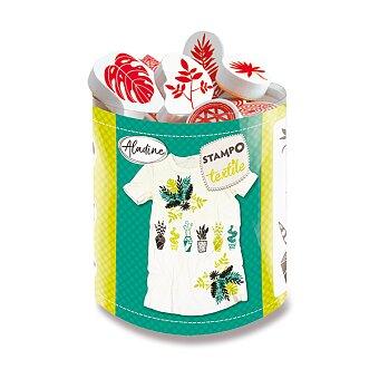 Obrázek produktu Razítka Aladine Stampo Textile - Exotické rostliny, 10 ks