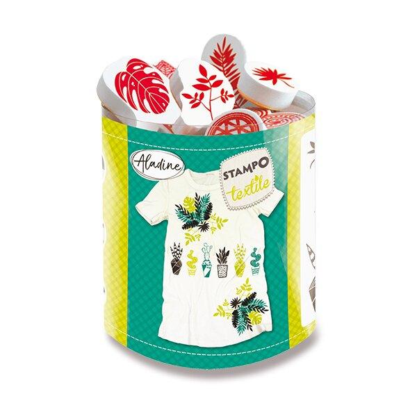 Razítka Aladine Stampo Textile Exotické rostliny, 10 ks