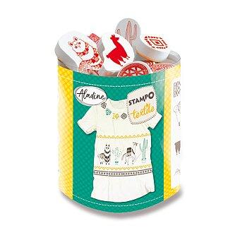Obrázek produktu Razítka Aladine Stampo Textile - Lamy, 13 ks