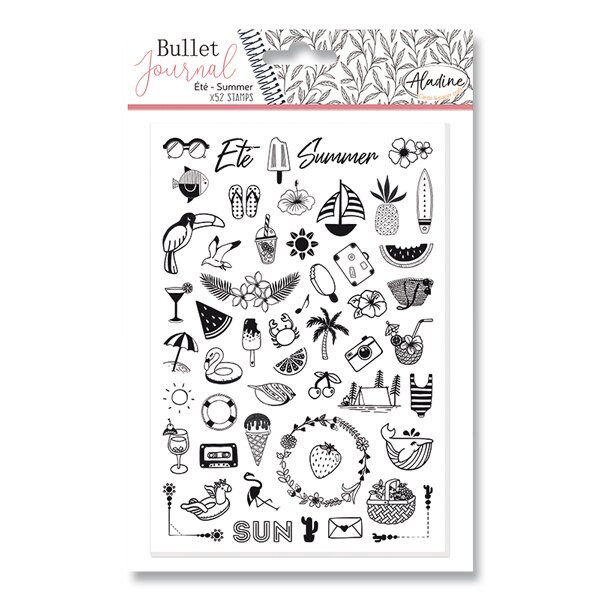 Razítka Stampo Bullet Aladine Léto, 52 ks