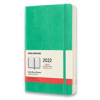 Obrázek produktu Diář Moleskine 2022 - měkké desky - L, denní, světle zelený