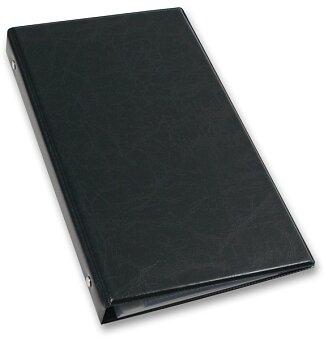 Obrázek produktu 4kroužkový vizitkář Xepter - černý - na 80 ks