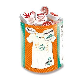 Obrázek produktu Razítka Aladine Stampo Textile - Tropické léto, 12 ks