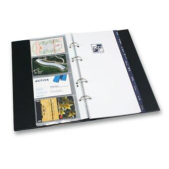 Obrázek produktu Kroužkový vizitkář PP Karton Xepter - na 80 vizitek, výběr barev