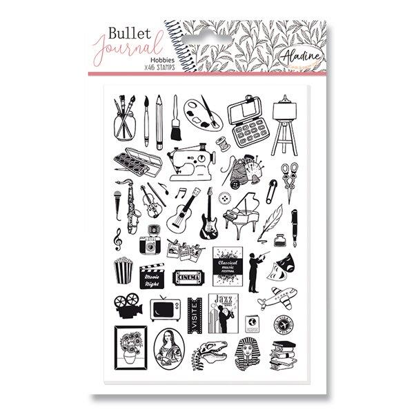Razítka Stampo Bullet Aladine Koníčky, 46 ks
