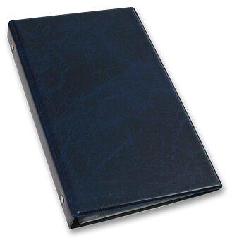 Obrázek produktu 4kroužkový vizitkář Xepter - modrý - na 80 ks