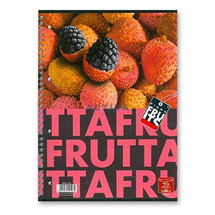 Obrázok produktu Pigna Fruits - krúžkový blok - A5, 80 l., linajkový