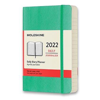 Obrázek produktu Diář Moleskine 2022 - měkké desky - S, denní, světle zelený