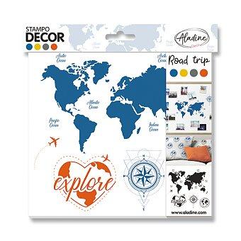 Obrázek produktu Razítka Aladine Stampo Decor - Cestování, 5 ks